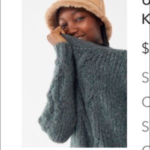 New UO blue grey sweater